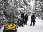 Auberge sur le lac Témiscouata : motoneige