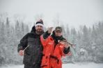 Expédition pêche : propriétaire et client