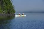 kayak double sur le lac Témiscouata