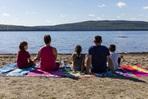 famille plage parc national