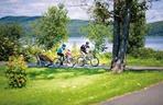 Vélo famille parc Clair Soleil