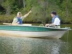 Pêche sur le lac du Repos