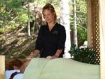 Massage dans le gazebo