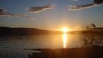 coucher de soleil sur le Grand lac Squatec