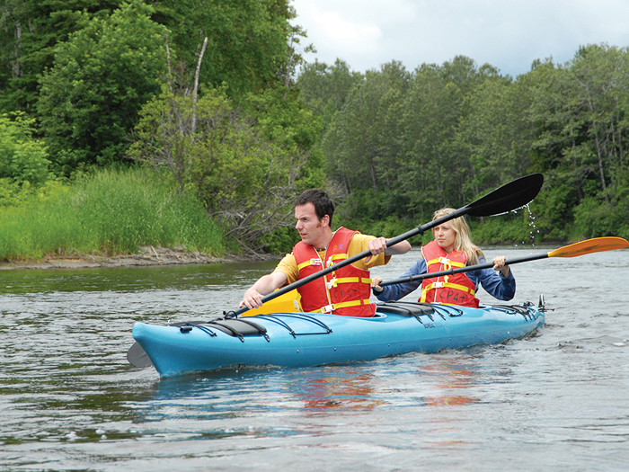 Kayaking on the Madawaska River