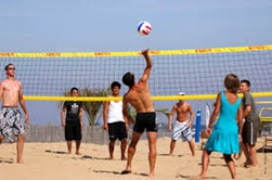 volley ball plage