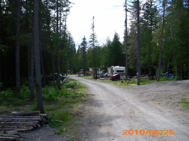 Camping lac Sload : terrain