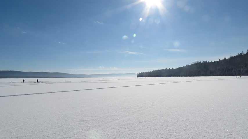 Éco-Site-lake Témiscouata in winter