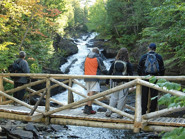 National Hiking Trail, Lower St. Lawrence - hikers