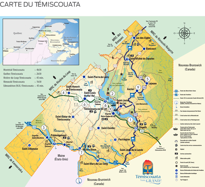 Carte du Témiscouata 2017